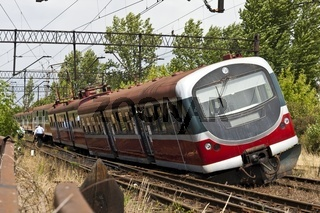 Derailed electric multiple unit (EMU)