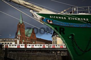 Galionsfigur, Segelschiff, Rickmer, Hamburg