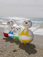 snowman beach vacation