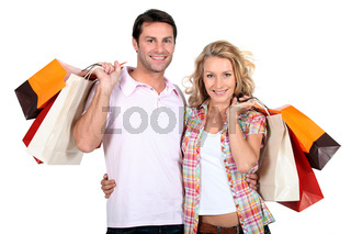Couple with bags