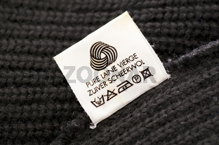 wool care symbol