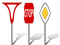 stylized traffic signs