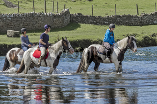 Crossing The River Ogmore Glamorgan UK