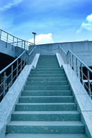 wide blue stair to the sky