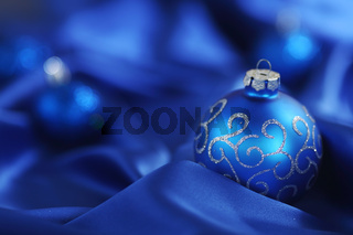 blue christmas card macro close up