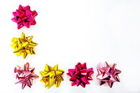 Christmas ribbons isolated