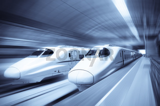 modern high speed train