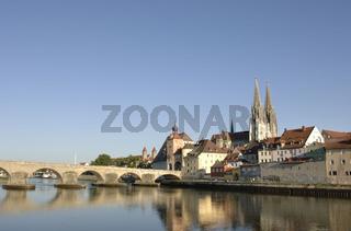 Die historische Altstadt von Regensburg