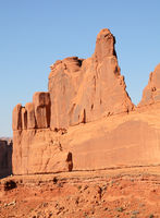 Evening Light on Park Avenue Rock Formation in Arches National Park