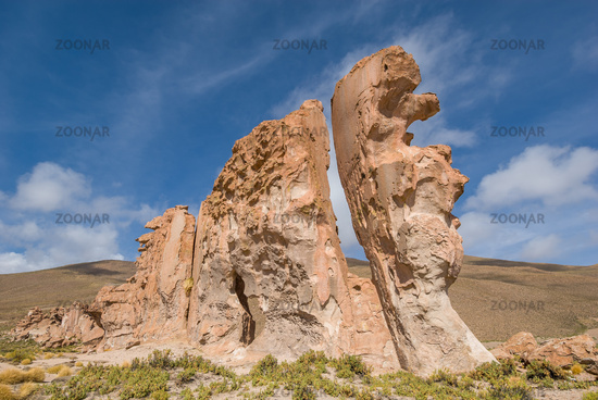 Valle de rocas rock formations, Altiplano Bolivia