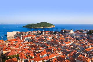 Town Dubrovnik and island in Croatia
