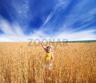 Little girl on field