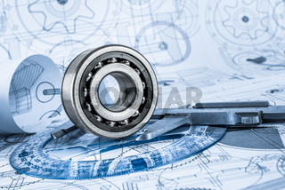 Technical drawings with the bearing