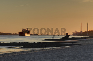 Sonnenuntergang in Hamburg-Blankenese