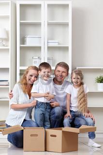 Family at moving