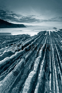 Zumaia´s beach in black and white