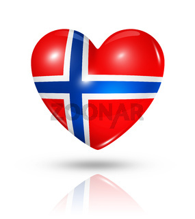 Love Norway, heart flag icon