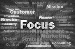 Focus concept with other related words