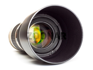 long lens with hood