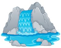 Image with waterfall theme 1 - picture illustration.