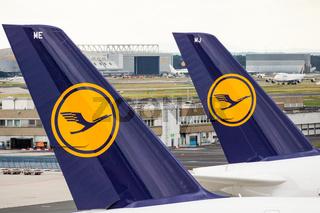 Lufthansa A380 Seitenleitwerk