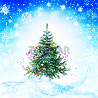 Xmas abstract winter backgrounds with falling snowflakes