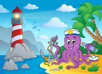 Image with octopus sailor 3 - picture illustration.