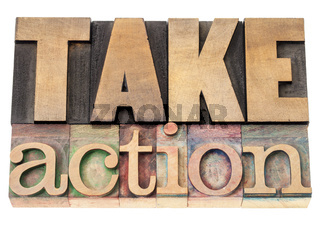 take action in wood type