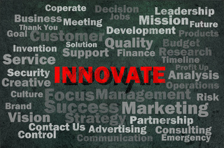 Innovate concept with other related words