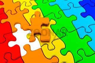 Puzzle colorful