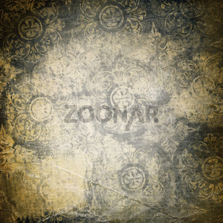 Grunge background with ornament.