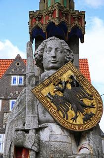 Rolandstatue Bremen, Deutschland; statue of Roland, Bremen, Germany