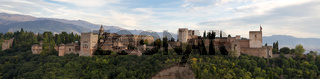 Panorama of the Alhambra Palace