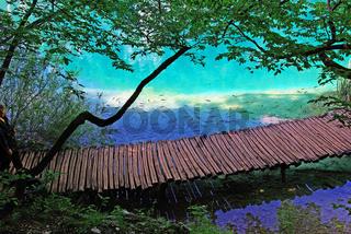 Steg im Nationalpark Plitvice Jezera