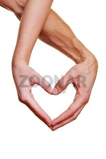 Zwei Hände bilden ein Herz