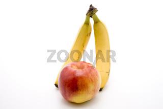 Bananen und Apfel