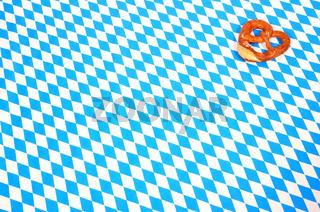 Bayerisches Muster blau weiß Hintergrund Oktoberfest