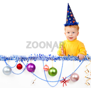 child against New Year's balls