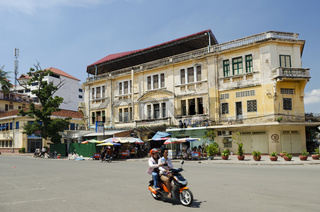 french colonial building in phnom penh cambodia