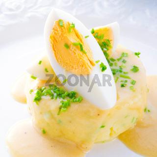fresh mustard eggs