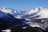 Panoramablick Oberengadin
