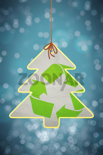 christmas recycling sign