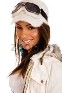 Fashion girl wearing Winter Sunglasses
