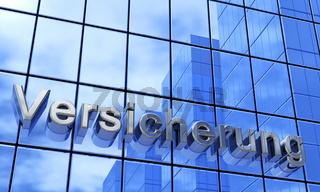 Versicherung - Fassaden Text Konzept Blau Silber 2