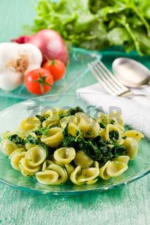 Orecchiette with Turnip tops