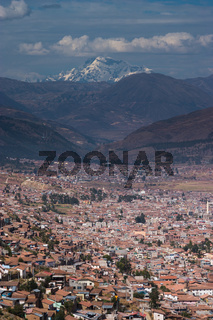 Cusco in Peru shot from Sacsayhuaman