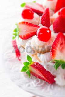 meringue-based dessert - selective focus