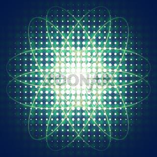 abstrakt strahlen radiologie symbol