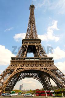 Eiffelturm und Champs de Mars