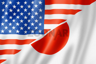 USA and Japan flag